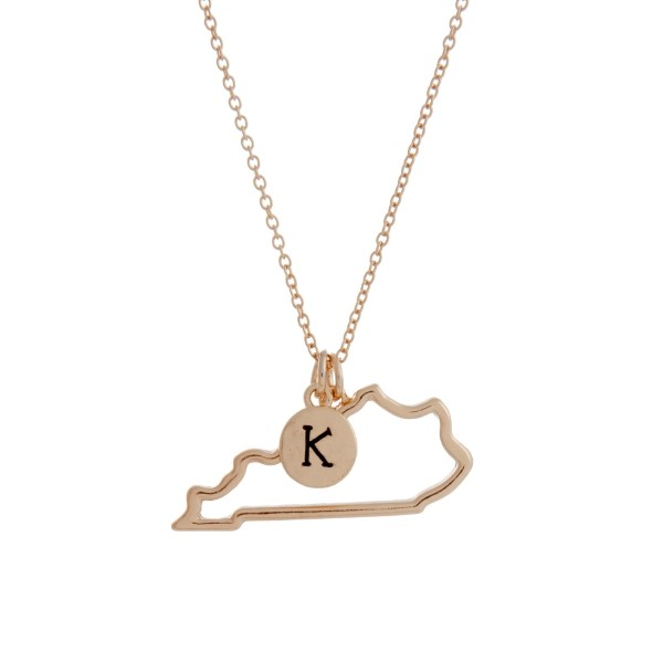 Wholesale gold necklace cutout state Kentucky pendant K charm