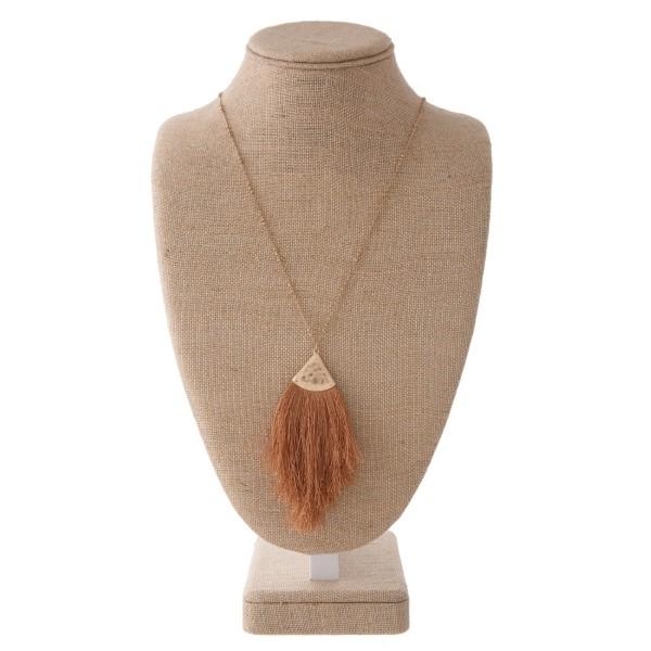 Wholesale gold necklace soft thread tassel pendant