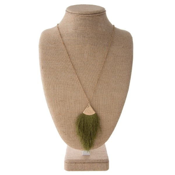 Wholesale gold necklace soft thread tassel pendant