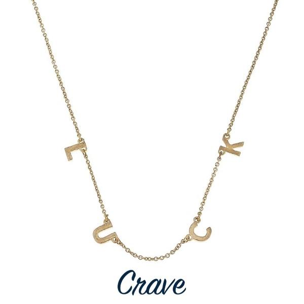 Wholesale short gold necklace charm detail