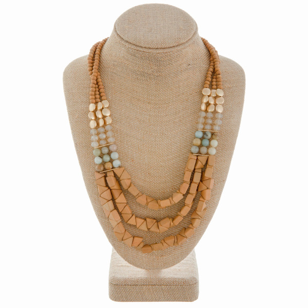 Wholesale long beaded layered necklace Approximate