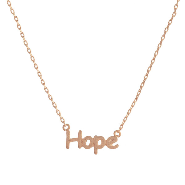 Wholesale gorgeous short inspirational message necklace Approximate pendant Hope