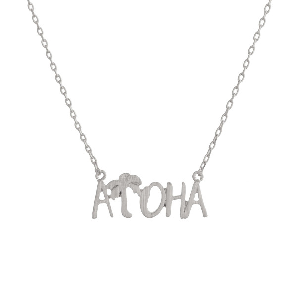 Wholesale gorgeous short inspirational message necklace Approximate pendant Aloh