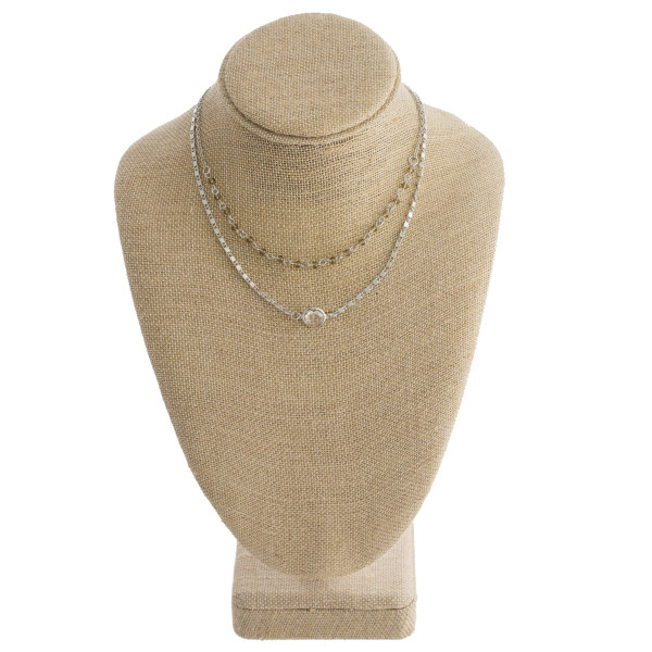 Wholesale long layered necklace crystal details Approximate