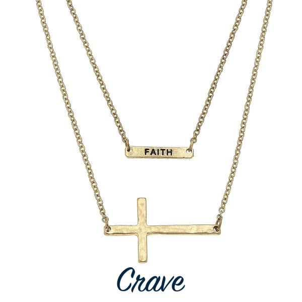 Wholesale long layered necklace inspirational cross pendants Approximate