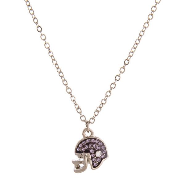 Wholesale dainty cable chain necklace football helmet cubic zirconia details Pen