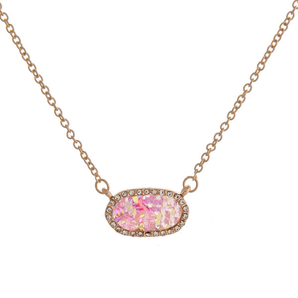 Wholesale dainty cable chain necklace bar pendant glitter details cubic zirconia