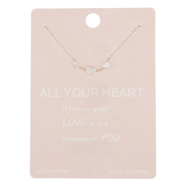 Wholesale dainty All Heart lucky charm necklace Pendant cm extender