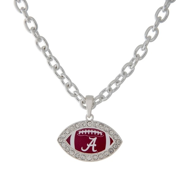 Wholesale officially licensed University Alabama inch necklace football edged cr