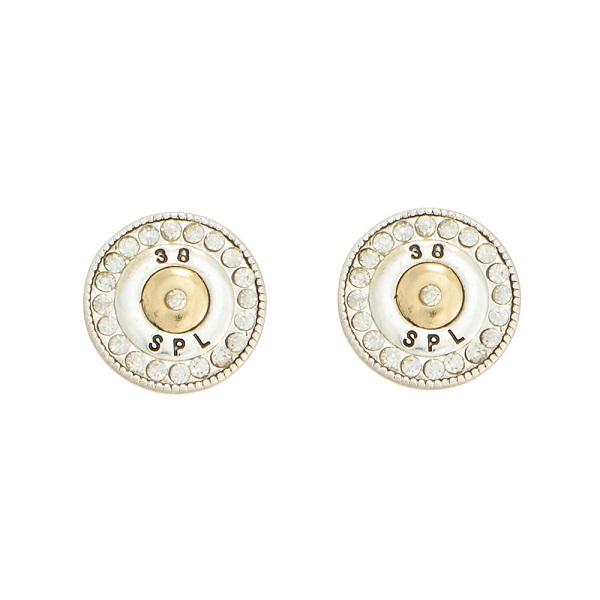 Wholesale two post earrings special bullet crystal rhinestones