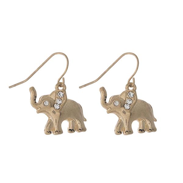 Wholesale dainty gold elephant fishhook earrings