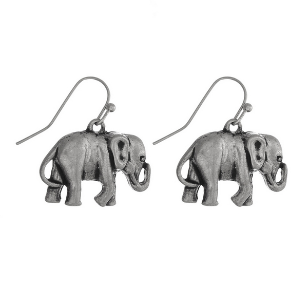 Wholesale silver fishhook earrings elephant