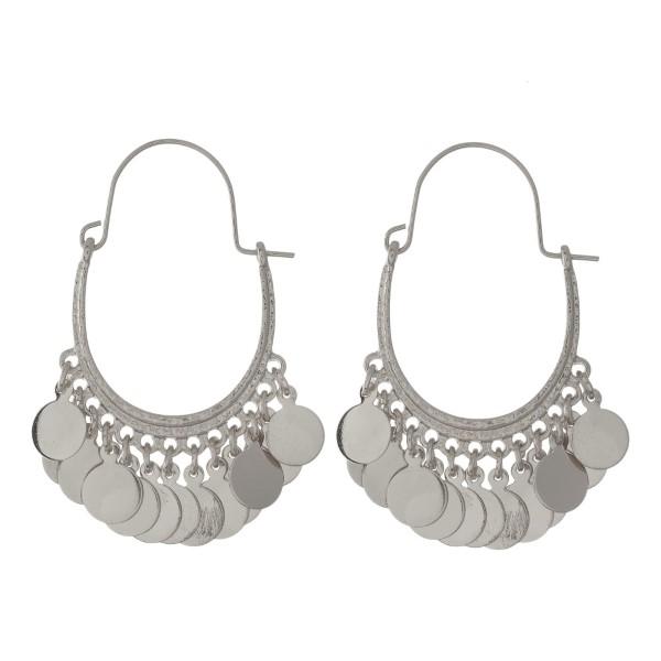 Wholesale oval hoop earrings circle charms