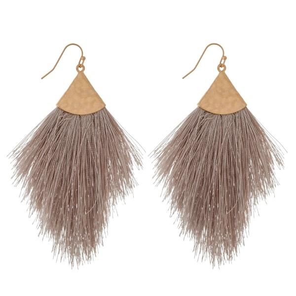 Wholesale gold fishhook earrings soft thread tassel