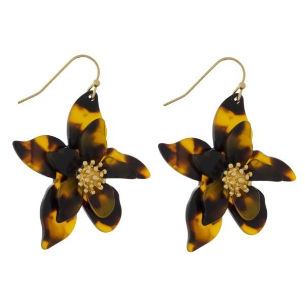 Wholesale gold fishhook earring flower