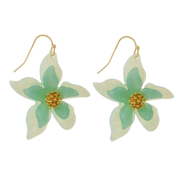 Wholesale gold fishhook earring flower