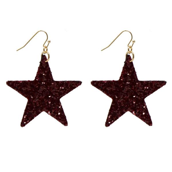 Wholesale fishhook glitter star earring