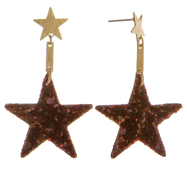 Wholesale grab gorgeous glitter star earrings everyday wear Approximate