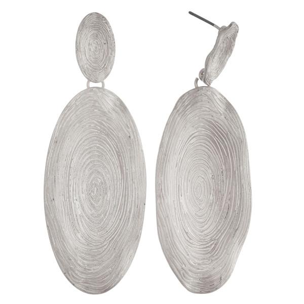 Wholesale long metal stud earring oval