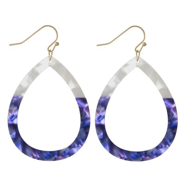 Wholesale fishhook acetate teardrop earring