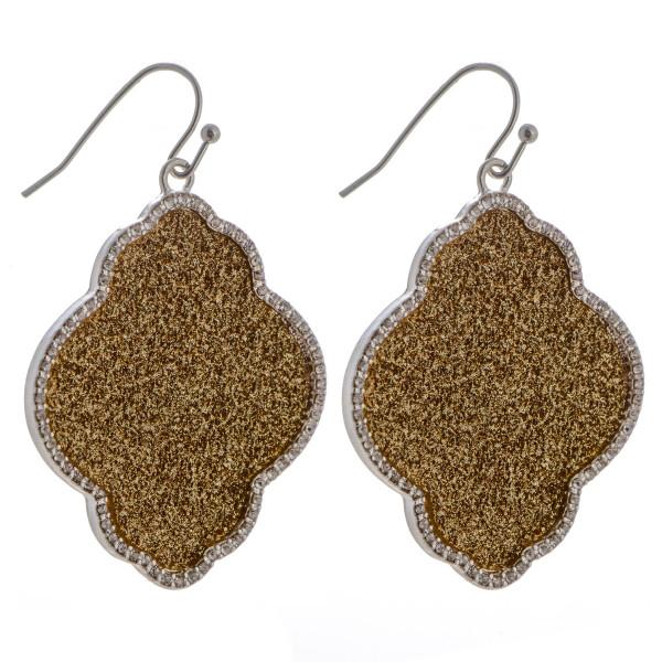 Wholesale fishhook moroccan earring glitter rhinestone details