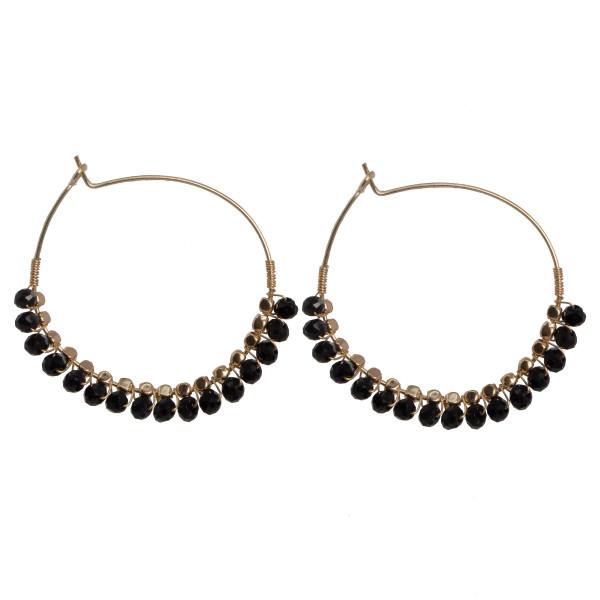 Wholesale beaded hoop earring diameter