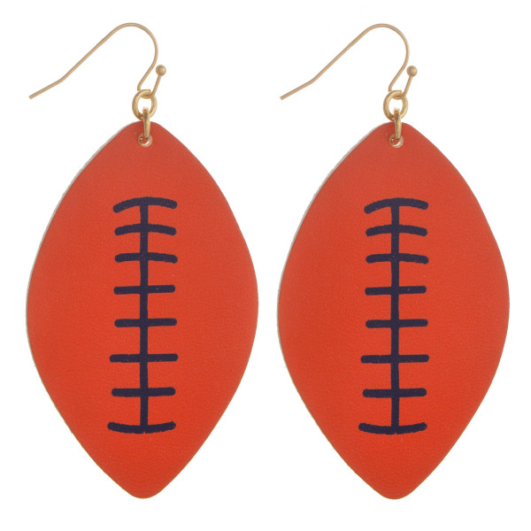 Wholesale long fish hook football earring Approximate