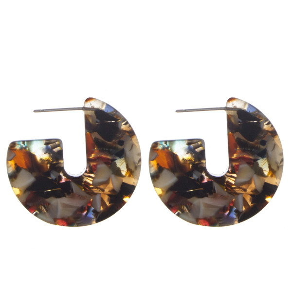 Wholesale short acetate earrings Approximate diameter