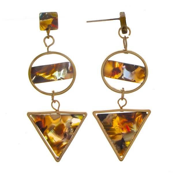 Wholesale long circled triangle earrings acetate designs Approximate