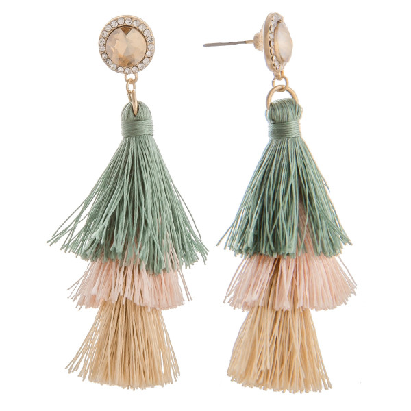 Wholesale long rhinestone tassel earring multi colors tassels Approximate