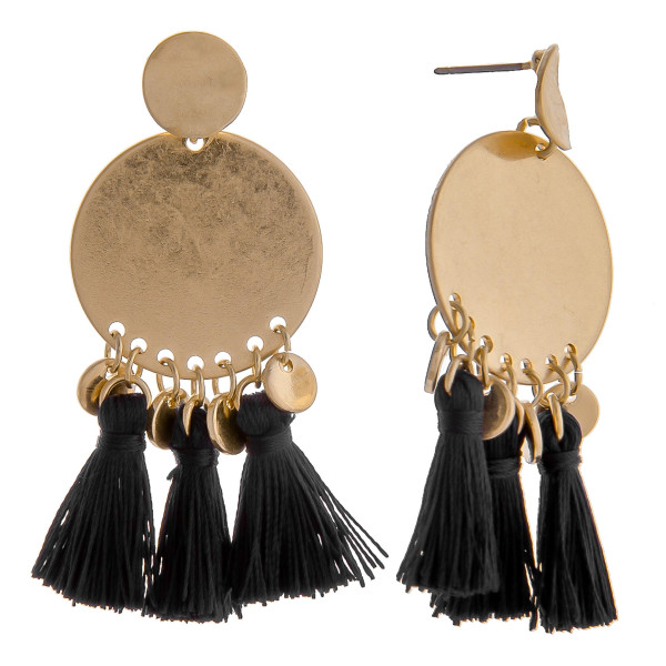 Wholesale short gold earring short tassels Approximate