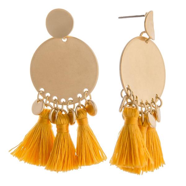 Wholesale short gold earring short tassels Approximate