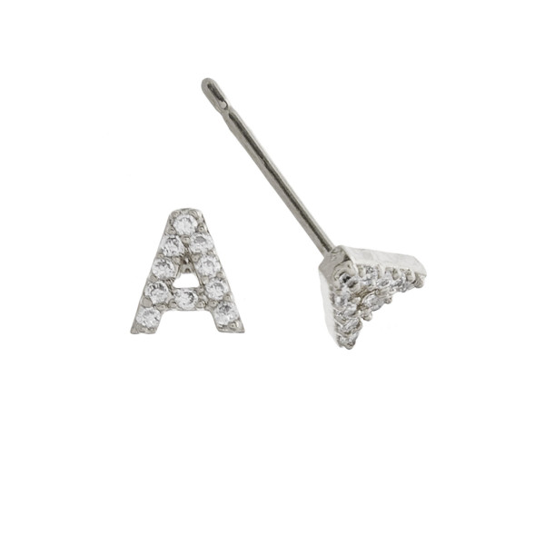 Wholesale gorgeous gold dipped initial stud earrings Approximate