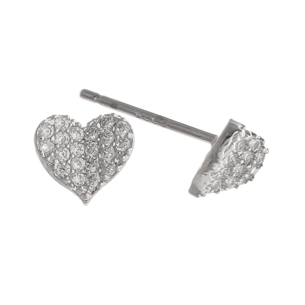 Wholesale gorgeous heart earring rhinestones everyday wear Approximate mm