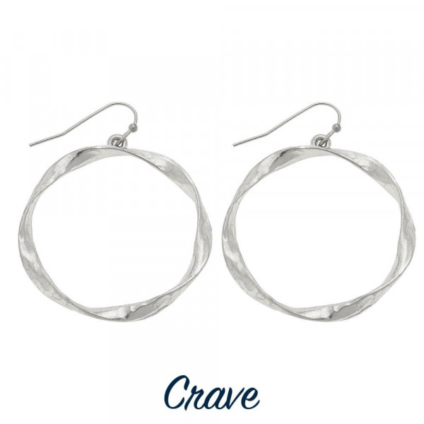 Wholesale hammered metal circle earrings diameter