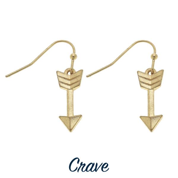 Wholesale dainty arrow drop earrings tall