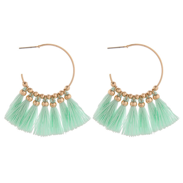 Wholesale long tassel open hoop earring Approximate