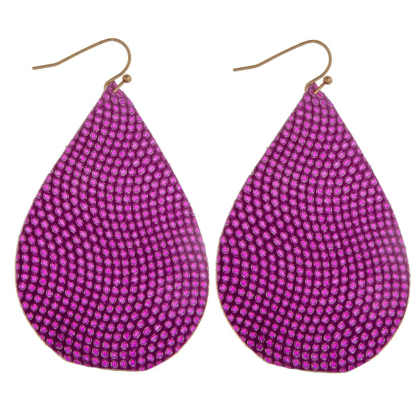 Wholesale large leather drop earring dot print