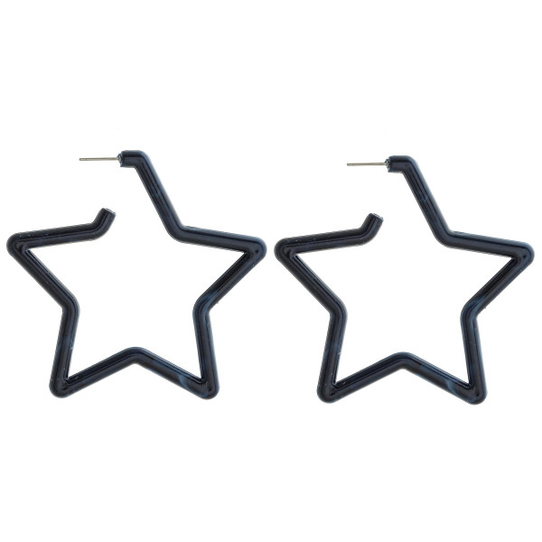 Wholesale long star acetate earring Approximate