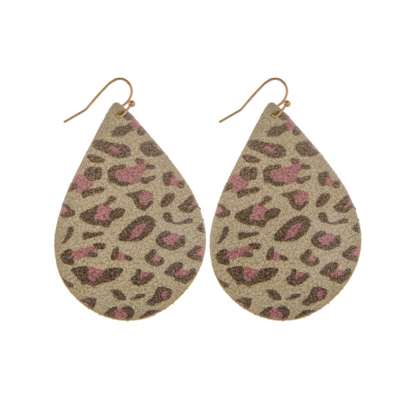 Wholesale long leather drop earring glitter detail Approximate
