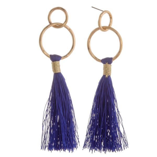 Wholesale long tassel earring hoop post Approximate