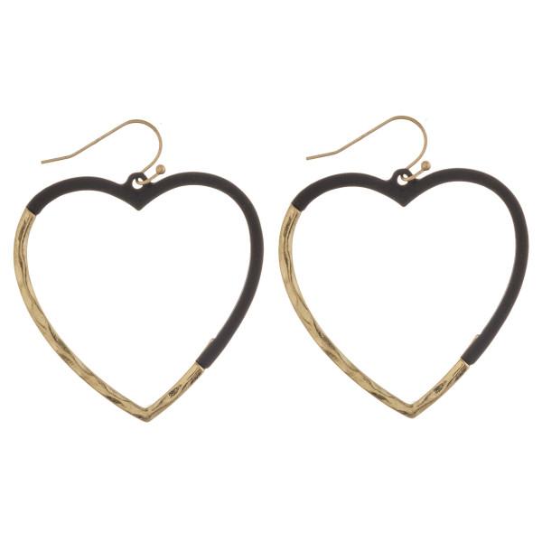 Wholesale matte color heart hoop earrigs diameter