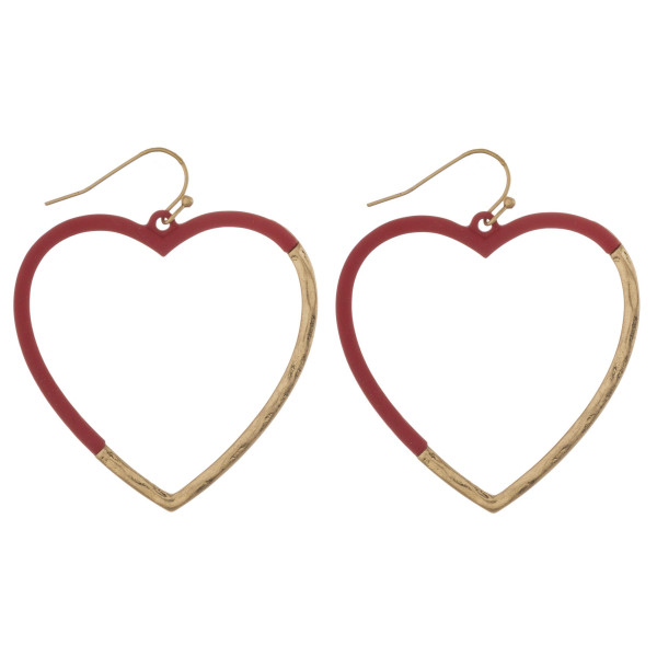 Wholesale matte color heart hoop earrigs diameter