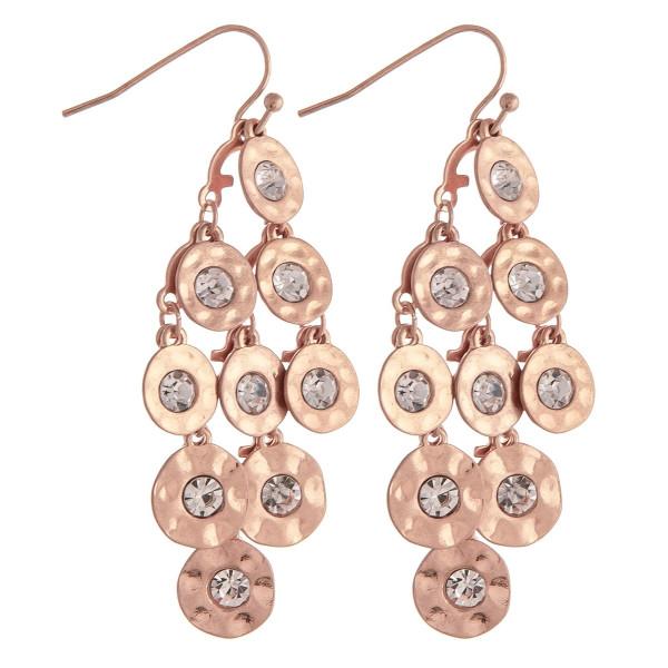 Wholesale chandelier drop earrings disc accents rhinestone details
