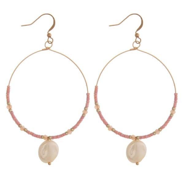Wholesale seed beaded pearl drop earrings L