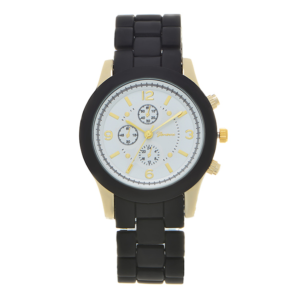 Wholesale black ceramic silicone band watch watch
