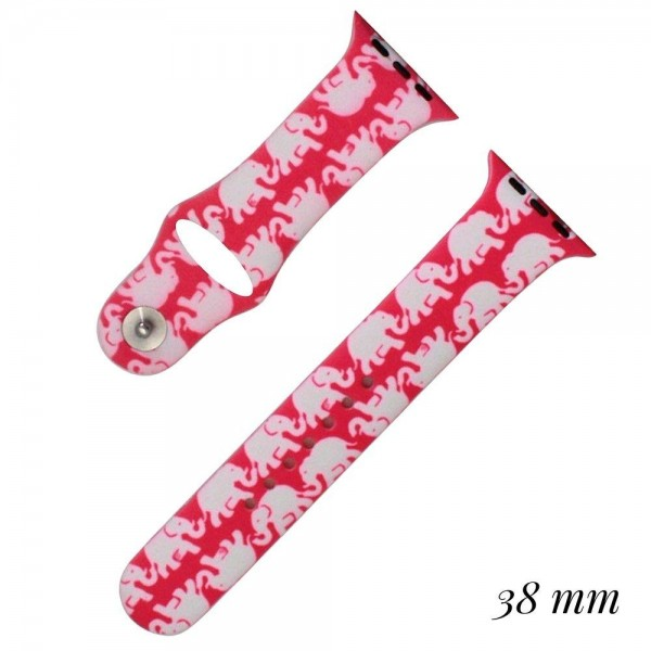 Wholesale elephant print silicone watch band smart watches Fits mm smart watch