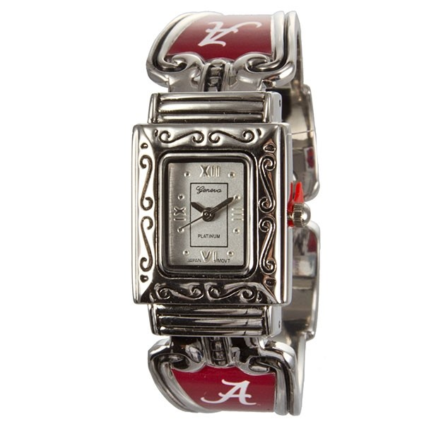 Wholesale officially licensed University Alabama Silver cuff band watch details