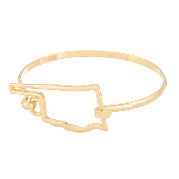 Wholesale gold bracelet outline state Oklahoma