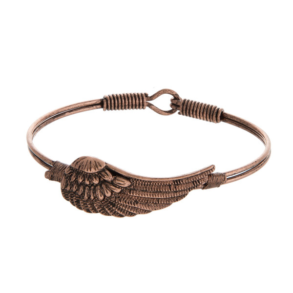 Wholesale burnished bangle bracelet wing